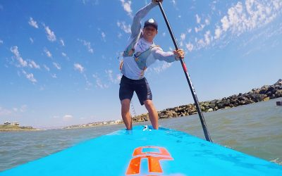 Booth competing on unlimited SUP for first time in Doctor Race