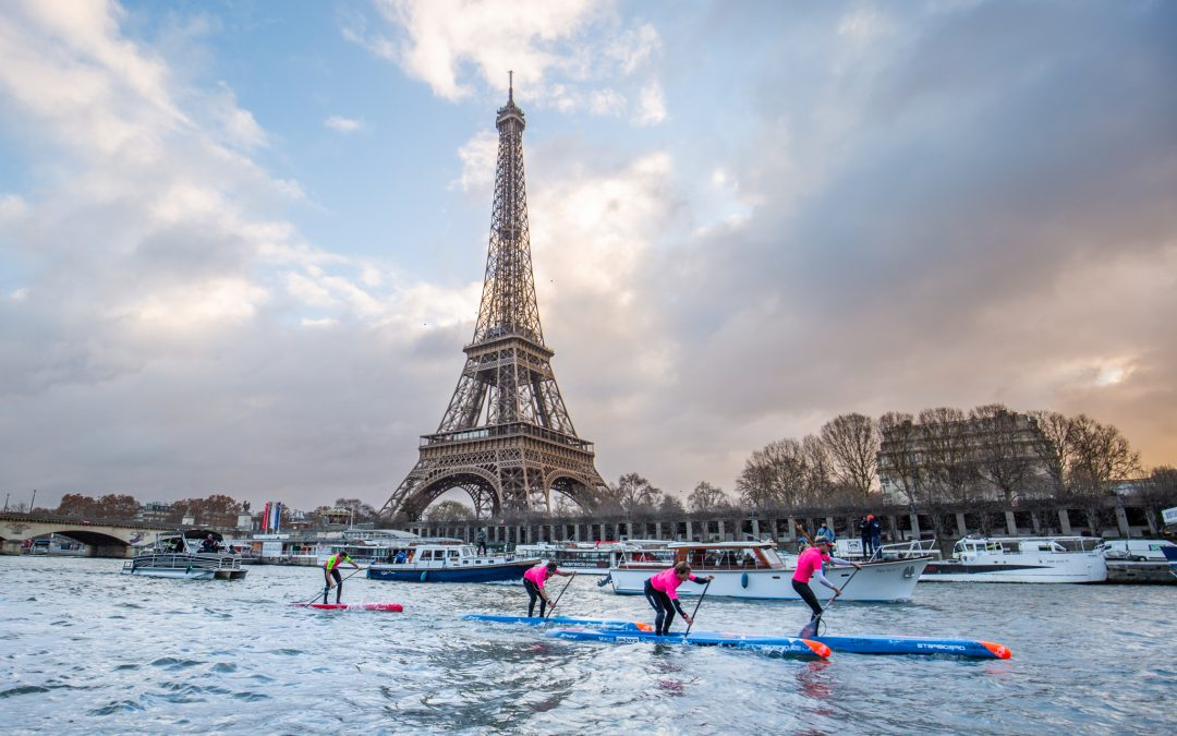 PARIS SUP OPEN: Michael Booth Wins on Seine River